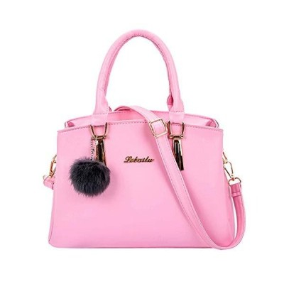 Women Crossbody Tote Bag Fashion BCDshop Ladies Fluffy Ball Message Shoulde