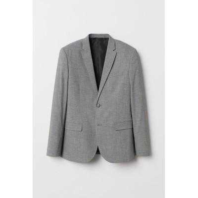 H&M - スキニーフィットジャケット - グレー