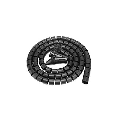 ケーブルモール プロテクター Mugast 配線結束 保護用チューブ 調節可能 柔軟 配線カバー チューブ 家庭用(ブラック1.5m*22mm)
