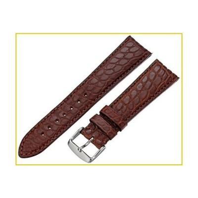 Hadley-Roma Men's 20mm Leather Watch Strap, Color:Beige (Model: MS2010RB-200)並行輸入品