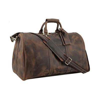 "Polare Full Grain Leather Travel Duffel Weekender Bag 20"" Overnight Duffle Bag 並行輸入品"