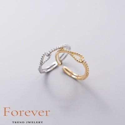 s925銀指輪 女性用 韓国 エタニティ 透ける デザイン感 リング XR-ALQ11