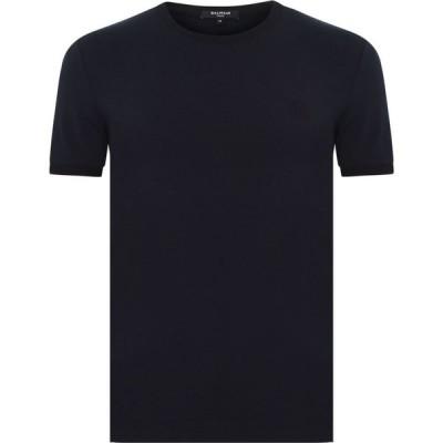 バルマン BALMAIN メンズ Tシャツ トップス Round Neck T Shirt Nvy/Blk