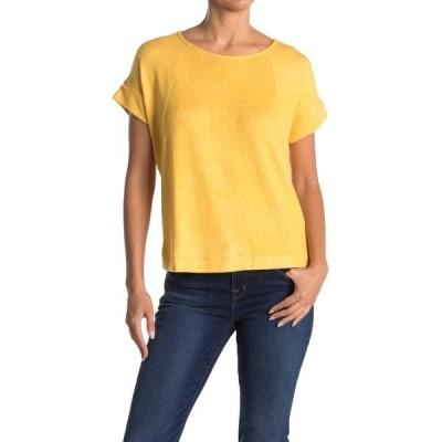 ボベー レディース Tシャツ トップス Hacci Raglan Sleeve Sweater Top HONEY GOLD