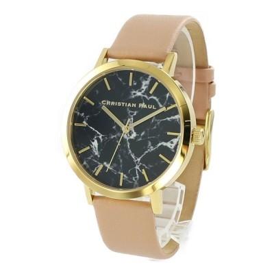 クリスチャンポール メンズ レディース ユニセックス Marble マーブル 黒文字盤 ヌードベージュ MR-04BG あすつく 腕時計