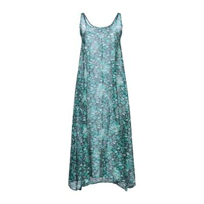 BINI Como 7分丈ワンピース・ドレス ダークグリーン 42 コットン 80% / シルク 20% 7分丈ワンピース・ドレス