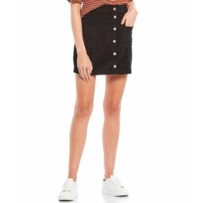ロキシー レディース スカート ボトムス Warning Sign Corduroy Button Front Skirt Anthracite