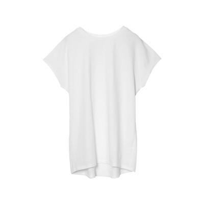 リエディ Re:EDIT オーガニックコットンフレンチスリーブTシャツ (オフホワイト)