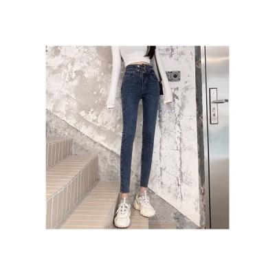 【送料無料】ファッション ハイウエスト ストレッチ 女性のジーンズ 秋 デザイン 感 | 346770_A63834-7470279