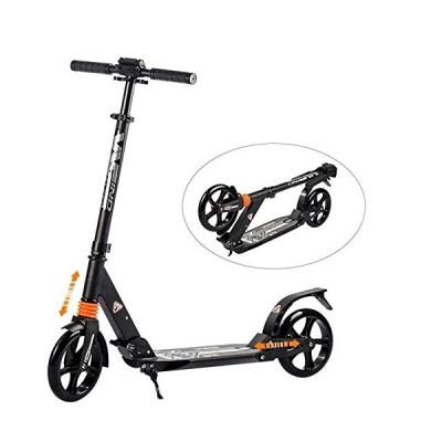 WINDWALKER キックボード ダブルサスペンション 8インチ(20cm)ホイール キックスクーター 3段階調整 折り畳み式 足踏み式ブレーキ 持
