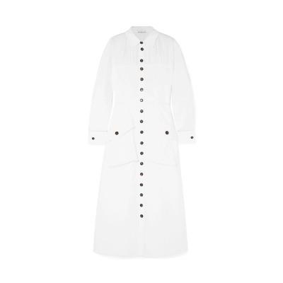 レジーナ・ピョ REJINA PYO 7分丈ワンピース・ドレス ホワイト 6 コットン 97% / ポリウレタン 3% 7分丈ワンピース・ドレス