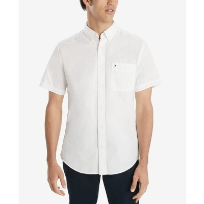 トミー ヒルフィガー シャツ トップス メンズ Men's Wainwright Custom-Fit Shirt Bright White