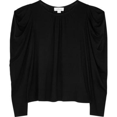 ベルベット グラハム&スペンサー Velvet by Graham & Spencer レディース トップス Tracie Black Stretch-Jersey Top Black