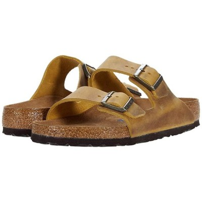 ビルケンシュトック Arizona Soft Footbed - Leather (Unisex) メンズ サンダル Ochre Oiled Leather