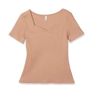 ロイヤルパーティー トップス ハートネック半袖Tシャツ レディース ピンク 日本 F (FREE サイズ)