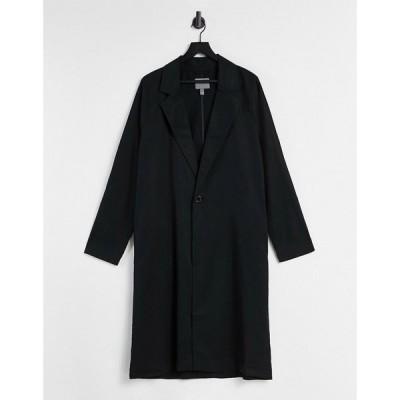 エイソス ASOS DESIGN メンズ コート アウター Duster Jacket In Black ブラック