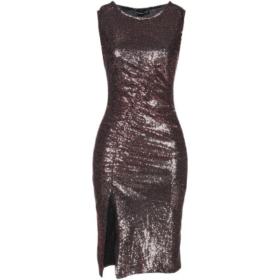 VANESSA SCOTT ミニワンピース&ドレス カッパー S ナイロン 87% / 金属繊維 7% / 合成繊維 6% ミニワンピース&ドレス