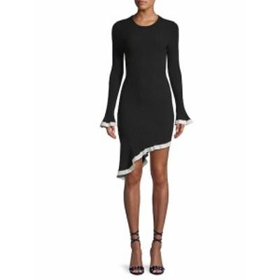 ロニーコボ レディース ワンピース Dafne Ribbed Asymmetrical Dress