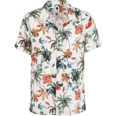 DEランプ DE LAMP メンズ シャツ トップス patterned shirt Ivory