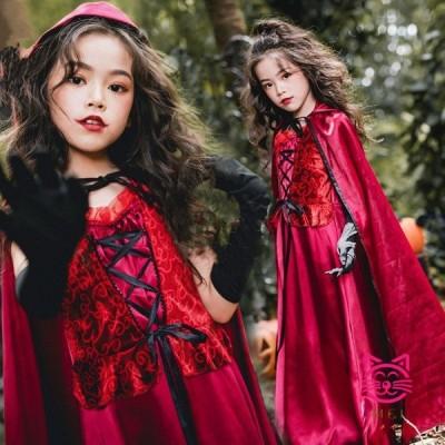 ハロウィン キッズ 巫女 悪魔 魔女 天使 子供用 巫女 バンパイア 吸血鬼 コスチューム キッズコスプレ 女の子 ハロウイン 仮装 xj4004