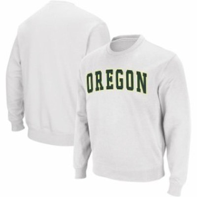 Colosseum コロセウム スポーツ用品  Colosseum Oregon Ducks White Arch & Logo Crew Neck Sweatshirt