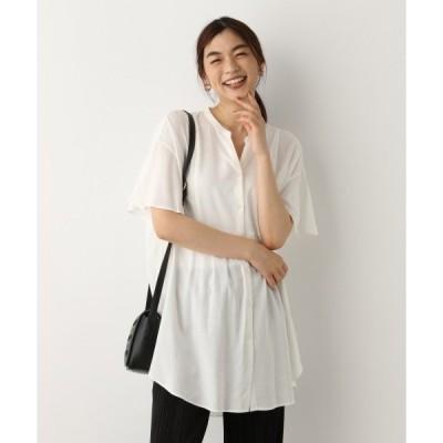 シャツ ブラウス フレンチリネン混ロングシャツ【一部店舗限定】/891657