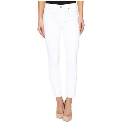セブンフォーオールマンカインド レディース デニムパンツ ボトムス Roxanne Ankle w/ Raw Hem in White Fashion