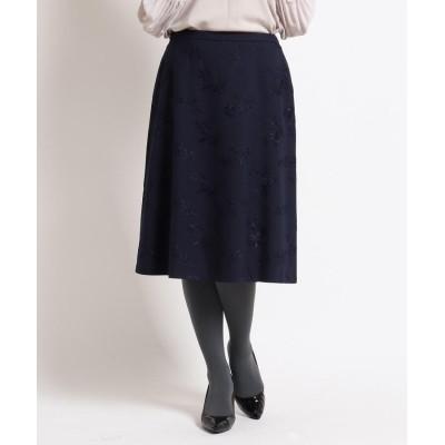 SunaUna(スーナウーナ) 【洗える】ストームフラワー刺繍入りスカート