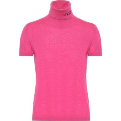 ヴァレンティノ Valentino レディース ニット・セーター トップス vltn virgin wool turtleneck sweater Shocking Pink