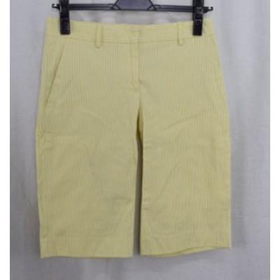【中古品】PLST/プラステ ハーフショーツ パンツ ストライプ サイズ0 イエロー/ホワイト