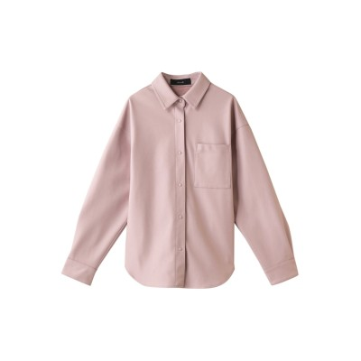 allureville アルアバイル フェイクレザーオーバーシャツ レディース ピンク 2