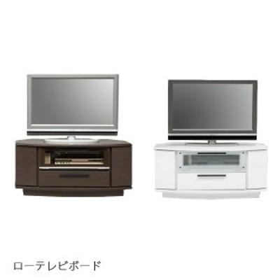 鏡面 テレビ台 テレビボード ローボード 白 ホワイト コンパクト 幅100cm 省スペース ローテレビボード シンプル スリ調ガラス TVボード
