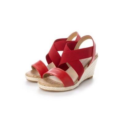 シューファンタジー Shoe Fantasy ウエッジソールサンダル (red)