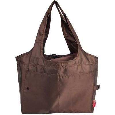 JIKO 大容量折りたたみ エコバッグ ブラック 買い物バッグ 折りたたみ ショッピングバッグ 繰り返し使用 (ブラウン)