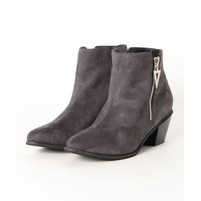 ZealMarket/SFW / 6cmチャンキーヒール美脚ショートブーツ WOMEN シューズ > ブーツ