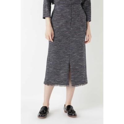 ツィードタイトスカート≪Rue dieu a la HUMAN WOMAN≫ ネイビー