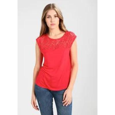 Anna Field レディーストップス Print T-shirt - light red light red