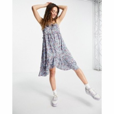 ヴァイオレット ロマンス VIOLET ROMANCE レディース ワンピース キャミワンピ Violet Romance cami strap asymmetric hem mini dress in
