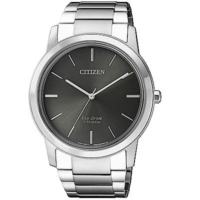 CITIZEN 時尚鈦金屬光動能腕錶/AW2020-82H