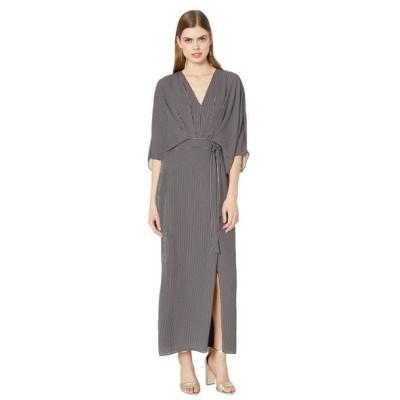 ホルストン ヘリテイジ Halston レディース ワンピース ワンピース・ドレス Kimono Stripe Dress Black/Linen White Tera Stripe