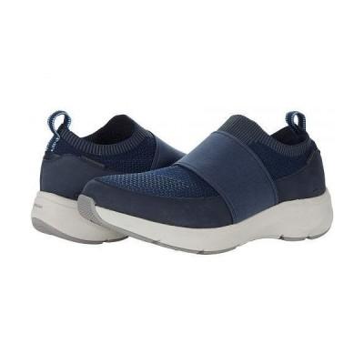 Clarks クラークス レディース 女性用 シューズ 靴 スニーカー 運動靴 Wave 2.0 Step - Navy Nubuck/Textile Combination