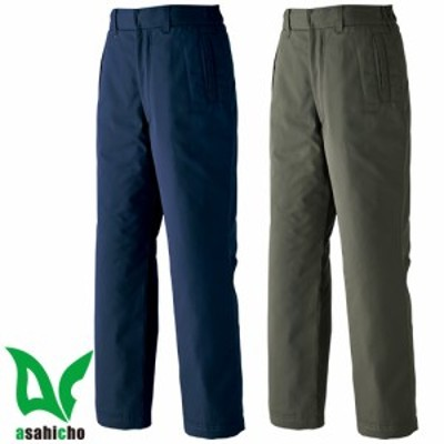 防寒パンツ 旭蝶繊維 ASAHICHO パンツ(ノータック脇シャーリング) E65500 作業着 防寒 作業服