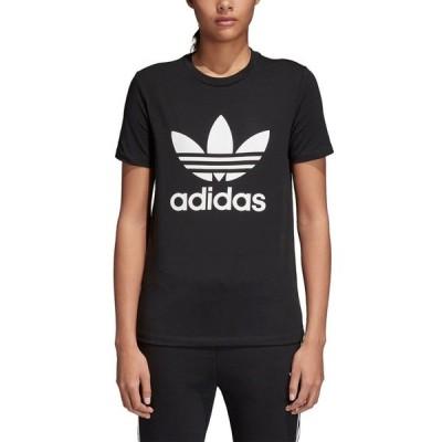 アディダス オリジナルス レディース/ウーマン adidas Originals ADICOLOR TREFOIL T-Shirt Tシャツ 半袖 Black/White