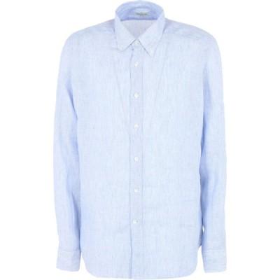 バグッタ BAGUTTA メンズ シャツ トップス linen shirt Blue