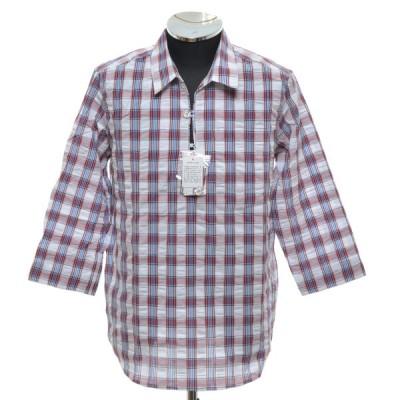 アーバンリサーチ URBAN RESEARCH チェックプルオーバーシャツ 七分袖 サイズ38 中古 古着