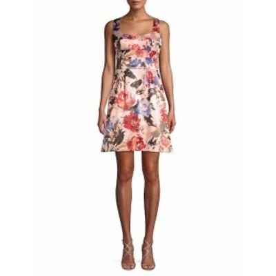 ニコールミラーニューヨーク レディース ワンピース Floral-Print Sleeveless Dress