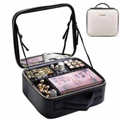 【送料無料】Rownyeon メイクボックス 鏡付き プロ用 化粧品収納ボックス コスメボックス ミニ化粧 ドレッサー キャリー 仕切り 高品質