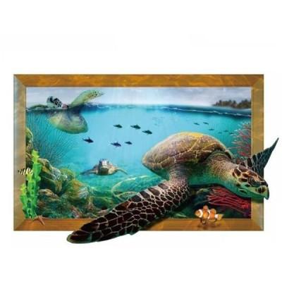 3D ウォールステッカー 壁紙 シール 貼ってはがせる 壁装飾 おしゃれ 防水 クリエイティブ装飾 リビングルーム 寝室 ホーム 2枚セット 海亀