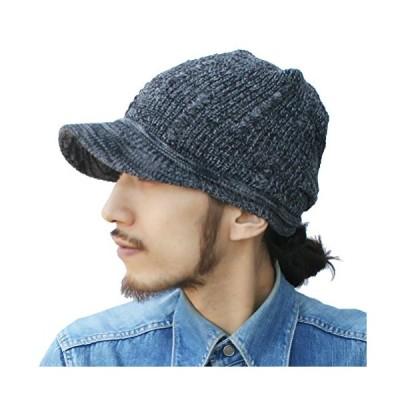 ピースクロージング コットンニットキャスケット ケーブル KS ツバ付き サマーニット帽子 キャップ UVカット ニット帽 ツバ サマー コ