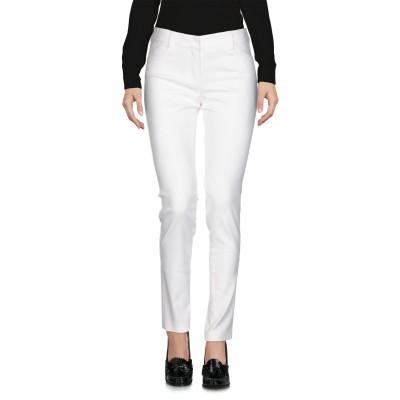 VIOLET ATOS LOMBARDINI パンツ ホワイト 40 コットン 62% / ナイロン 35% / ポリウレタン 3% パンツ